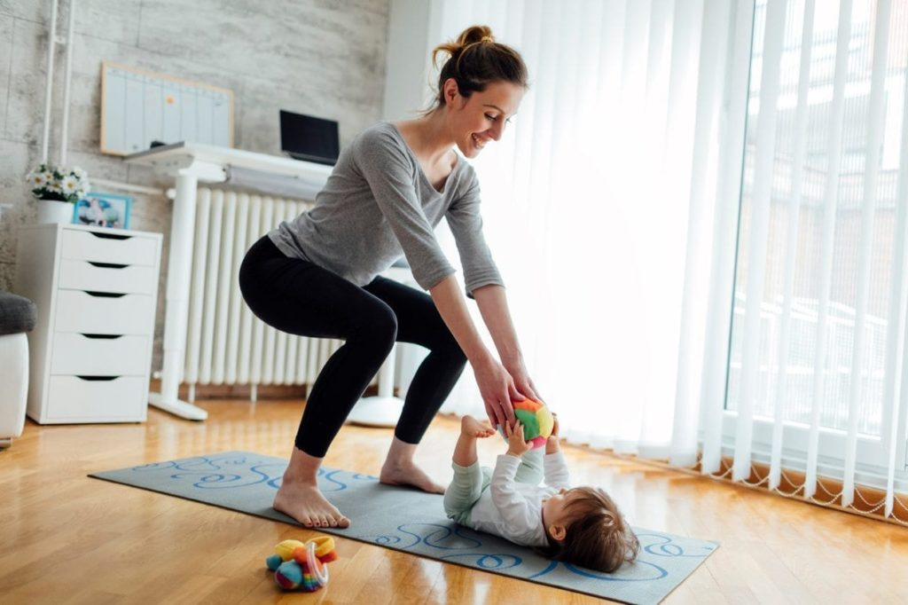 Easy Workout Ideas to Try at Home With a Toddler or a Kid Around