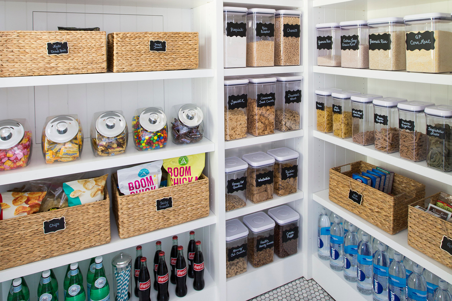 An organized and well-stocked pantry