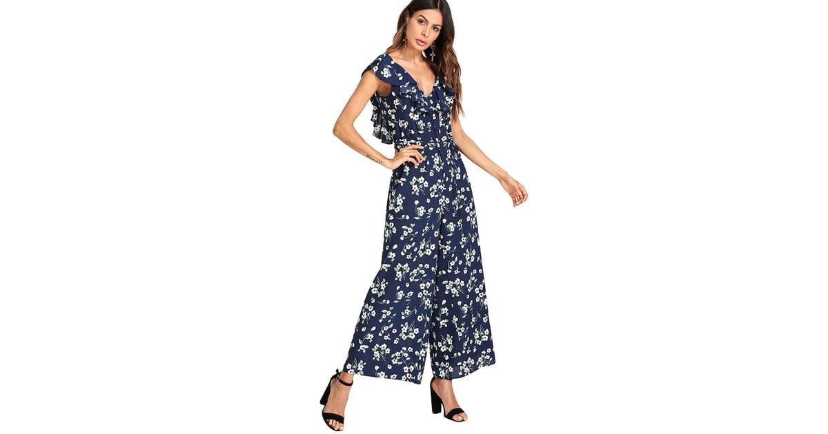 Romwe - Floral Jumpsuit
