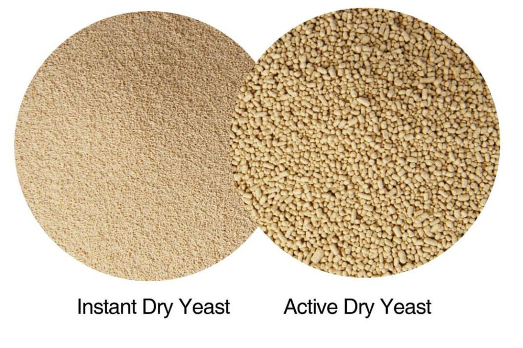 The difference between active dry and instant yeast