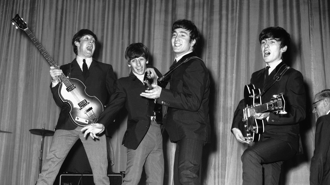 The Beatles at the Prince of Wales Theatre in 1963