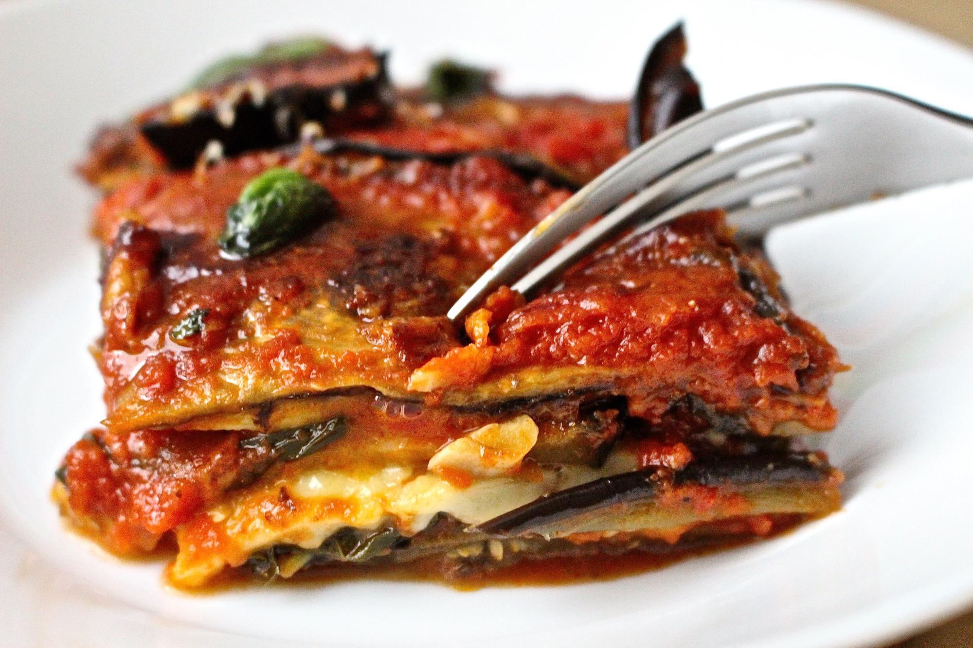 Vegan Eggplant Parm Dish