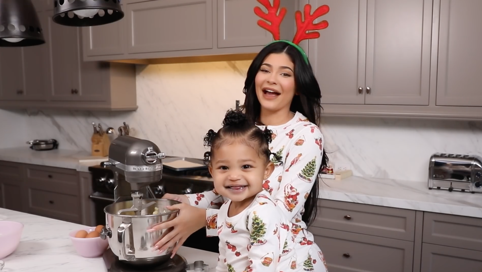 Kylie and her daughter at home