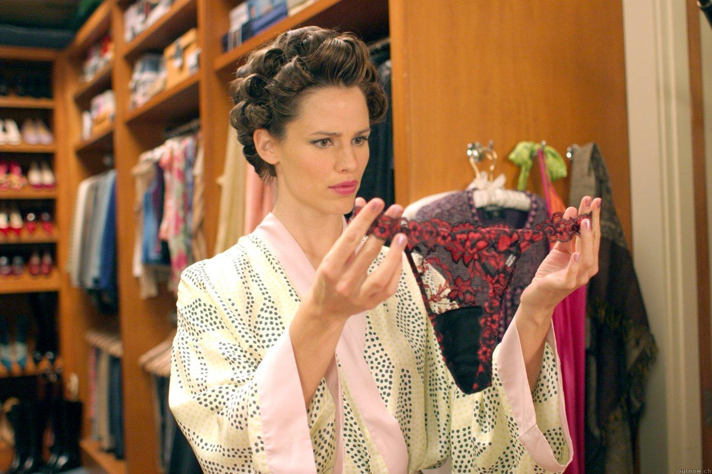 Jennifer Garner in 13 going on 30, looking at a pair of panties