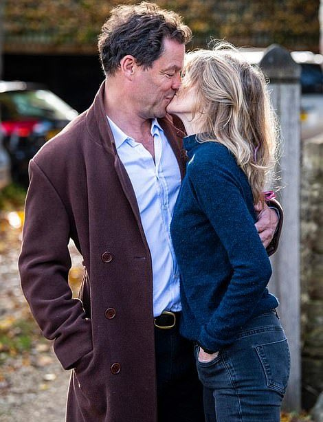 Dominic West and his wife Catherine FitzGerald,