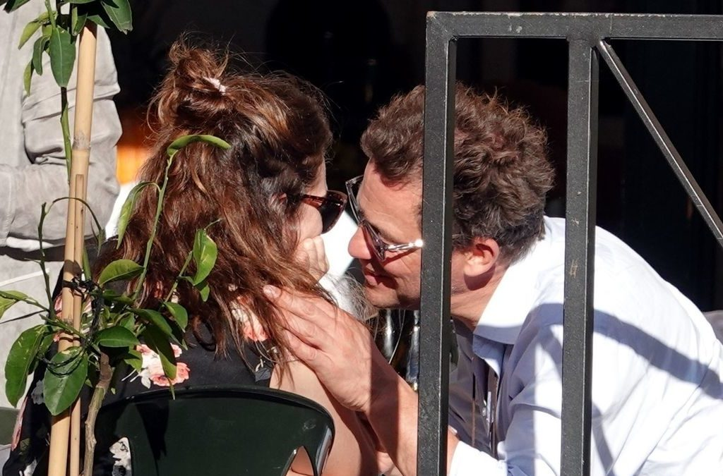 Dominic West Caught on Camera Kissing Lily James in Rome