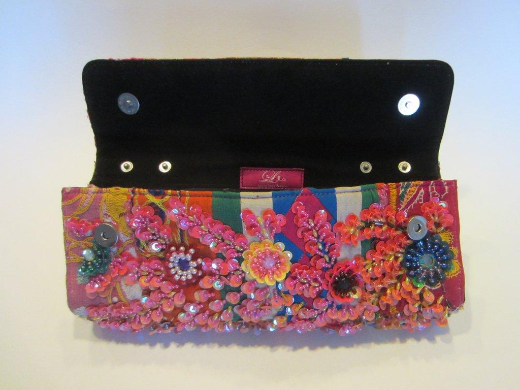 A Beaded Clutch or Makeup Bag
