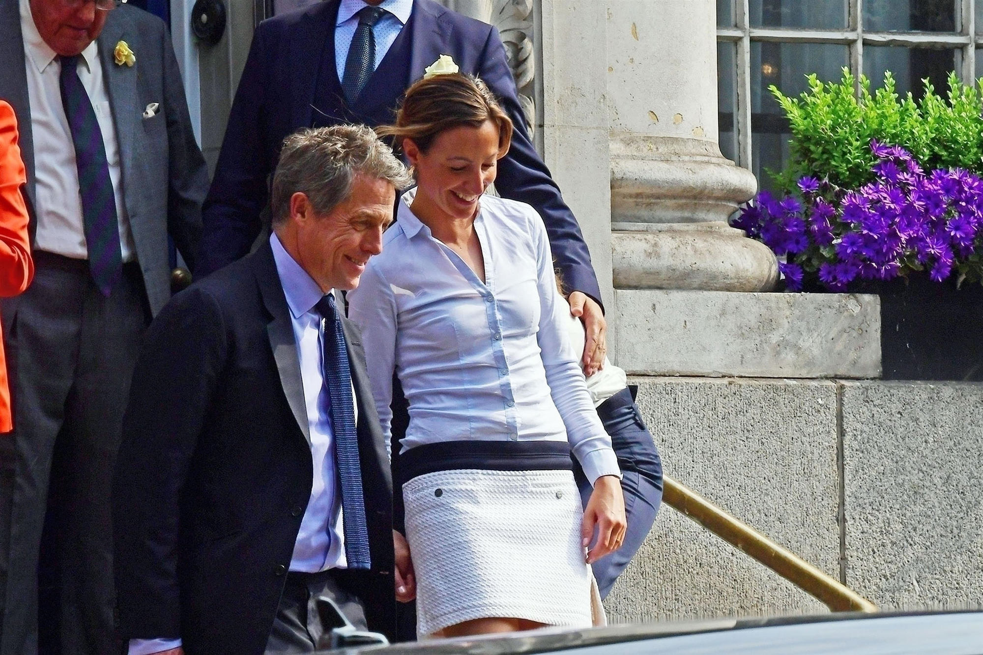 Hugh Grant and Anna Eberstein got married at the Chelsea registration office