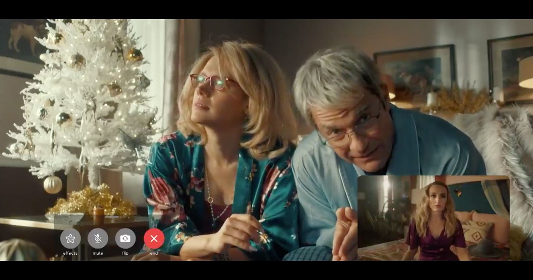 """Frame from """"The Christmas Conversation"""" Spoof."""