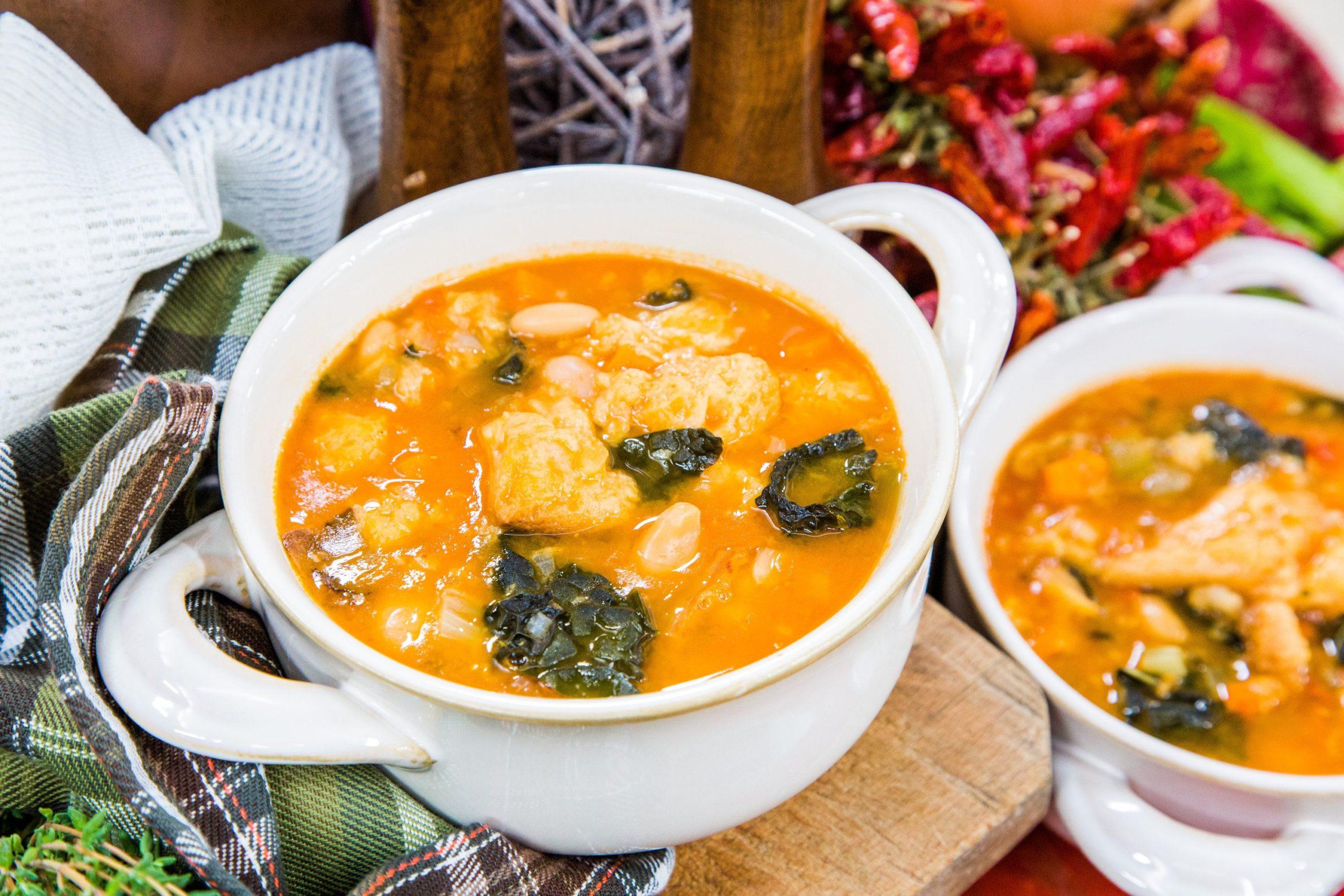 Italian Ribollita Soup With White Beans & Kale