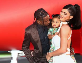 Kylie Jenner, Stormi, and Travis Scott