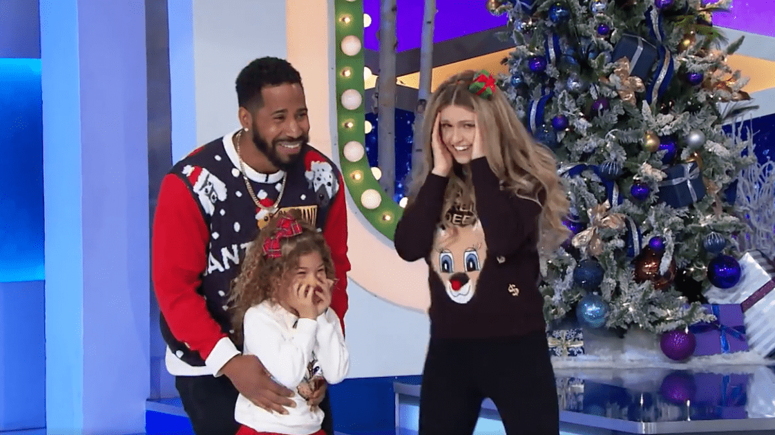 The Derricks family celebrating their big win on 'The Price is Right'.