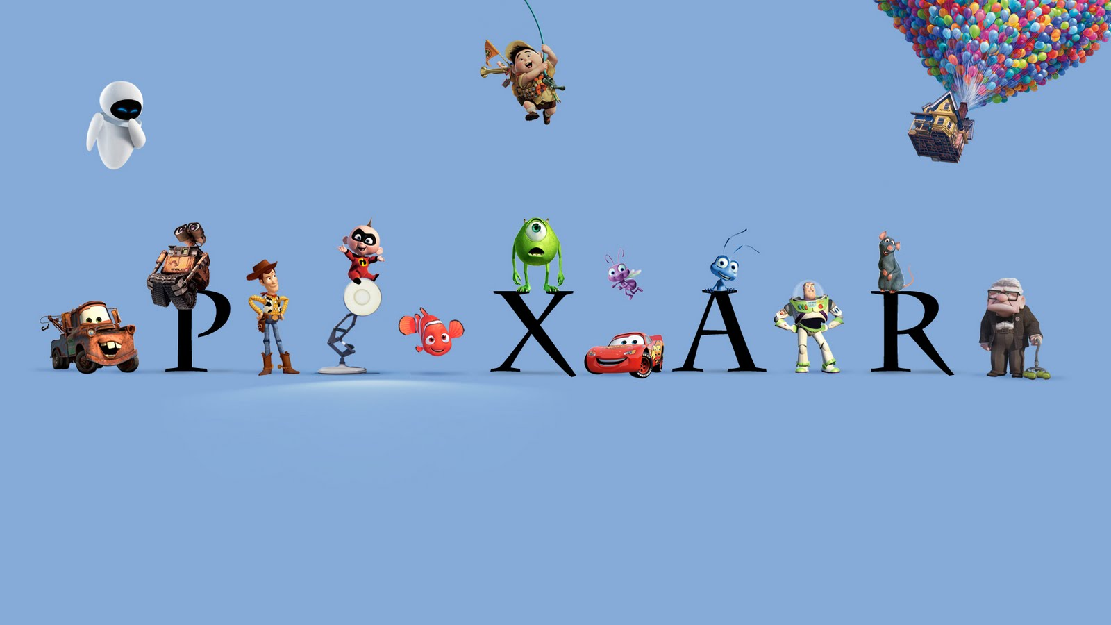 Pixar Animation Studios Logo and characters