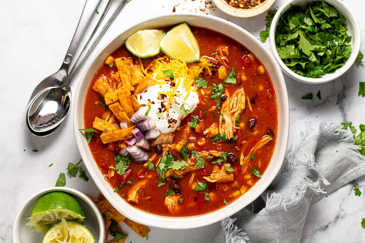 The Perfect Weeknight, Family Friendly Tortilla Soup Recipe