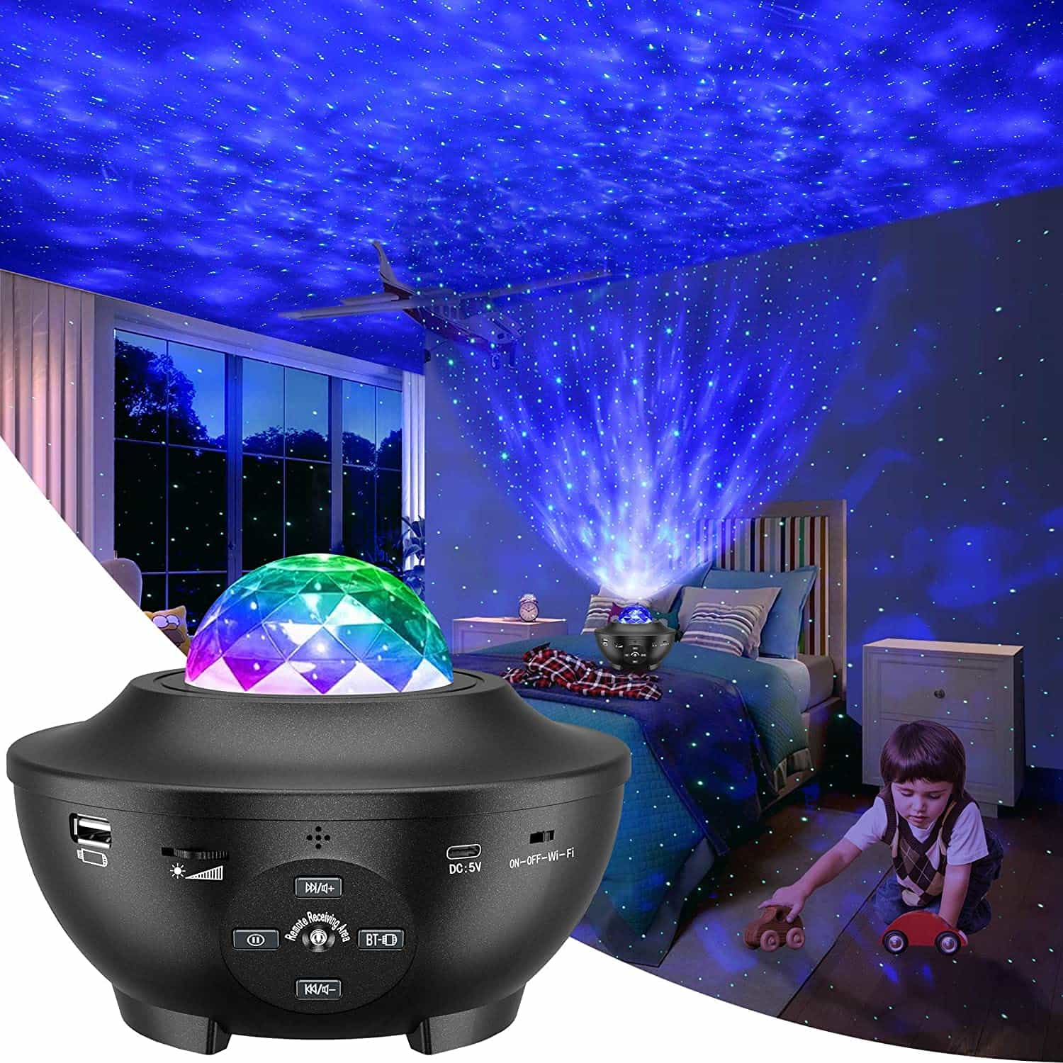 The LBell Galaxy Star Projector with Remote Control