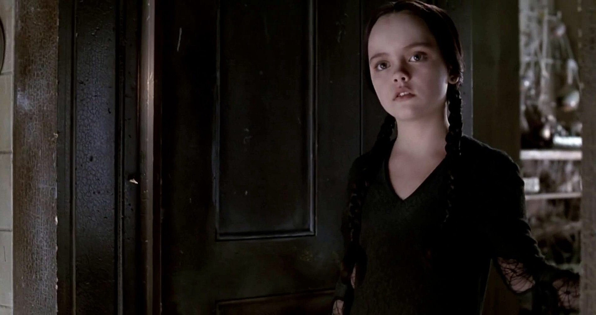 Wednesday Addams portrayed by Christina Ricci in Barry Sonnenfeld's 1991 Addams Family featured film.